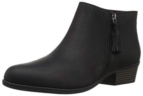 CLARKS Women's Addiy Terri Fashion Boot, Black Leather, 100 M US