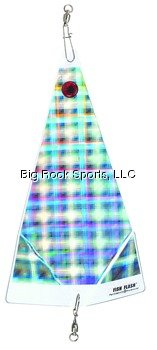 Small Fish Flash In-Line Flasher, 6'', Hyper Plaid
