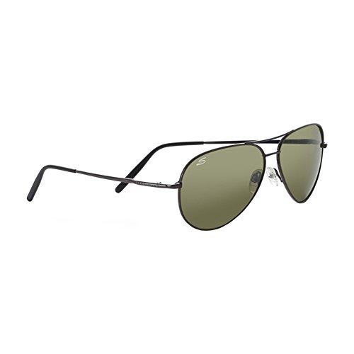 Gunmetal Gunmetal Sol Gafas de Shiny Aviator M Aviator Shiny Serengeti RB1qUU