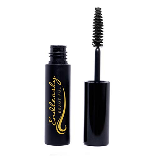 Natural Organic Mascara | Black Mascara | Vegan & Cruelty Free | Best Mascara for Thickening and Lengthening | Best Gluten Free Eyelash Organic Make Up | Mascara to Lengthen Eyelashes | Non-GMO
