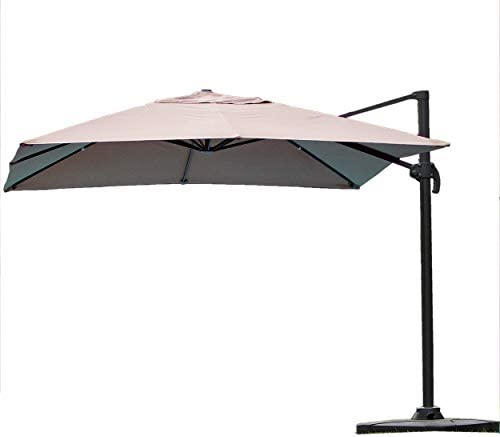 Christopher Knight Home 219913 Bayside Outdoor Deluxe Umbrella, Tan