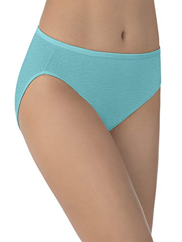 Vanity Fair Women's Illumination Hi Cut Panty 13108, Rainforest Aqua, - Aqua Brief Panty