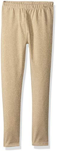 Crazy 8 Toddler Girls' Basic Legging, Gold Sparkle Lurex, 4T -