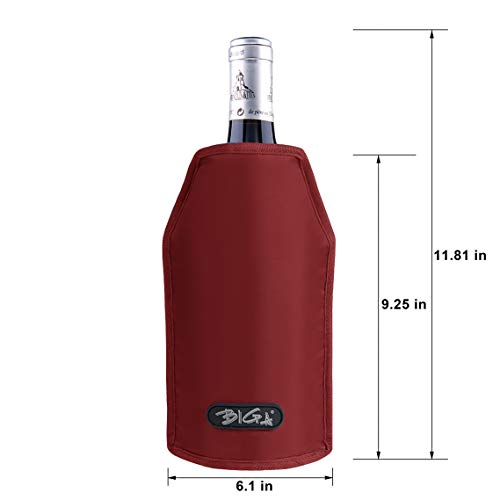 Wine Cooler Sleeve With Protector Keep Cool and Chill 2 Hours Up for Luxury Champagne Burt White Red Wine by DOZZZ (Image #2)