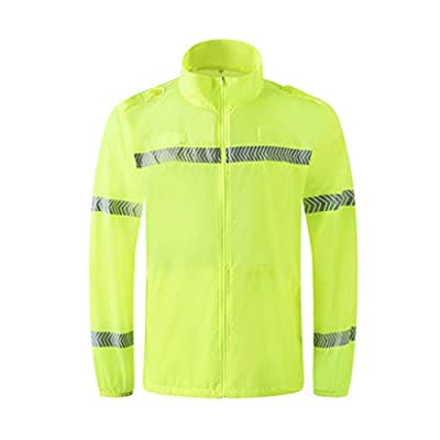 High Visibility Vest Waterproof Rain Jacket,Raincoat Hooded Poncho For Work Outdoor Activity Visibility Vest For Running Cycling Removable Thick Cotton Pad Reflective Safety Standard Fluorescent Safet