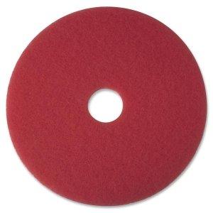 Buffer Pad, Removes Scuff Marks, 16, 5/CT, Red (Removes Pad Scuff)