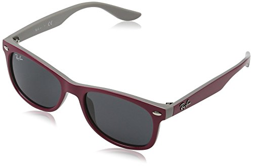 Ray-Ban Kids' New Wayfarer Junior Square Sunglasses, Top Red Fuxia on Gray 177/87, 48 - Ban Ray Junior Wayfarer New