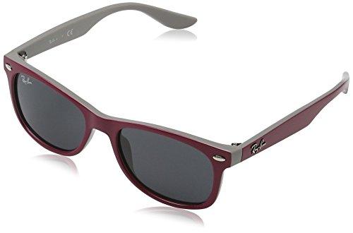 Ray-Ban Kids' New Wayfarer Junior Square Sunglasses, Top Red Fuxia on Gray 177/87, 48 - Ban Red New Wayfarer Ray