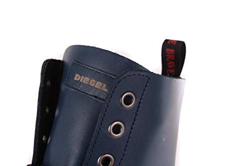 Diesel Damen Boots Stiefeletten Stiefel Blau Echtleder