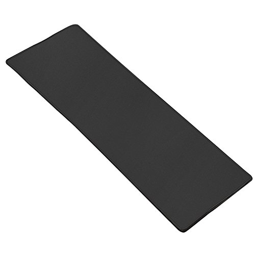 Extended Gaming Mouse Pad, Ktrio Mousepad Computer Mouse Mat Desktop Mouse Pad Keyboard Pad Non-Slip Rubber Base Water Resistant Stitched Edge for Gaming Office Work 31.5 x 11.8 x 0.11 inches Black