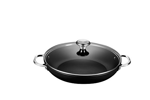 Le Creuset of America Toughened NonStick Shallow Casserole/Braiser with Lid, 4 quart,