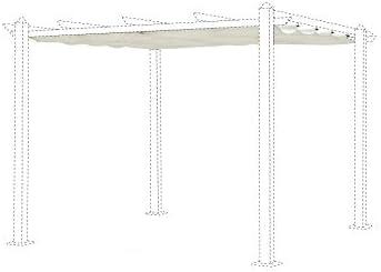 Alice s Garden Lienzo de bacas Écrue para Carpa 3 x 3 m condate – Lienzo de Repuesto pergola, Lienzo de reposición: Amazon.es: Jardín