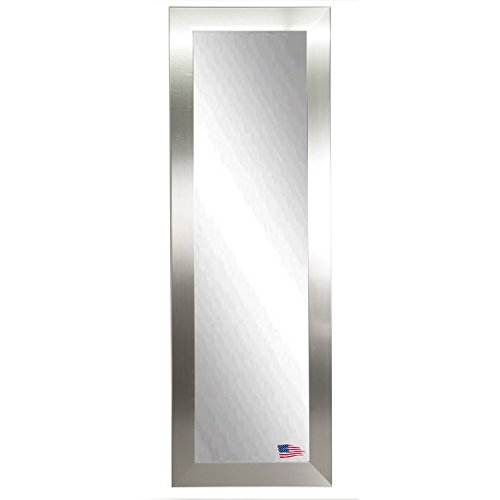Rayne Mirrors American Made Wide Slender Body Mirror, 21 by 60-Inch, Silver
