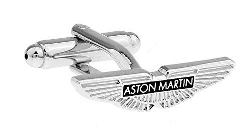 - ASTON MARTIN Super Car Logo Men's Cufflinks French Dress Wedding Cufflinks Gift Set with Gift Bag