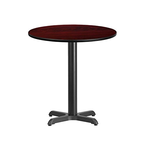 "BOWERY HILL 24"" Round Restaurant Dining Table in Black Mahogany"