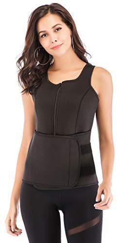 Sweat Vest for Women, Neoprene Slimming Body Shaper with Adjustable Waist Trimmer Belt for Weight Loss