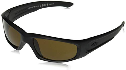 Smith Optics Elite Hudson Tactical Sunglass with Polarized Brown Lens, Black (Smith Sunglasses Military)