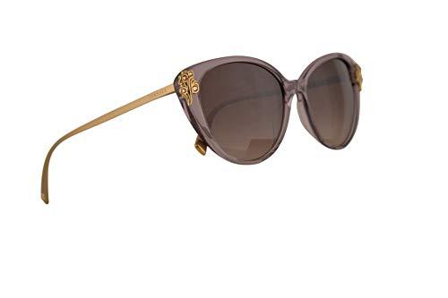 Versace VE4351B Sunglasses Transparent Violet w/Brown Gradient Lens 55mm 527313 VE4351-B VE 4351B VE ()