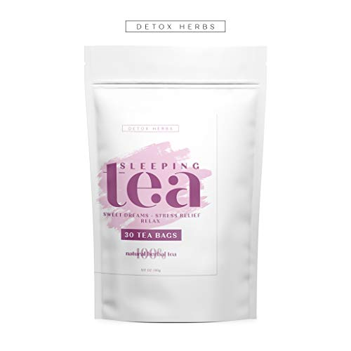 SLEEPING TEA - 30 Tea Bags, Tea for Sweet Dreams, Stress Relief and Relax, Calm Your Nerves & Enjoy Healthy Deep Sleep, 100% Natural Tea for Adults and Kids, Melissa, Chamomile (Best Tea For Sleep And Relaxation)