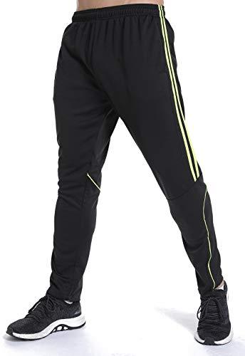 Noir Sport Verte Gym Pantalon Entraînement Respirant Jogging Occasionnels Homme Fittoo Fitness Rayure Survêtement FfaTq7P4c