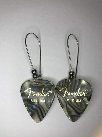 - Pick The Best Fender Premium Guitar Pick Earrings - Great Gift for Musicians and Music Lovers! - Medium Gauge Abalone - Best Gift for Teens, Women or Ladies, and Female Guitar Players