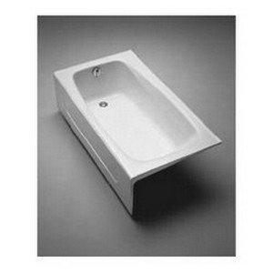 Toto FBY1525LPNo.01 Enameled Cast Iron Bathtub 59-3/4-Inch by 32-Inch by 16-3/4-Inch, - Cast Iron Tubs Whirlpool