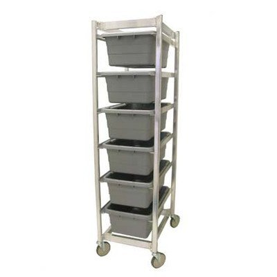 Prairie View Ind. Food Service LUGCT6KD Knock Down Lug Cart, 6 Capacity, 20'' Width x 70.5'' Height x 27'' Length