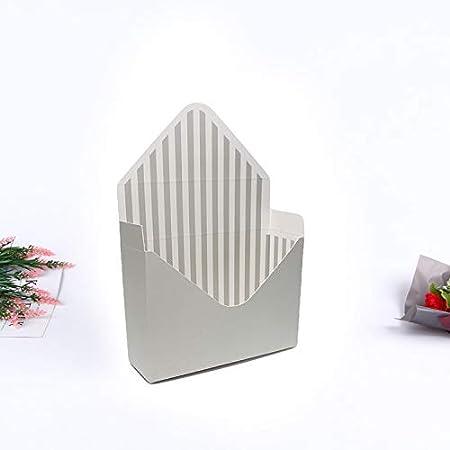 6 style romantique enveloppe Pliage Fleur Paper Holder Box Bouquet Fleuriste Emballage