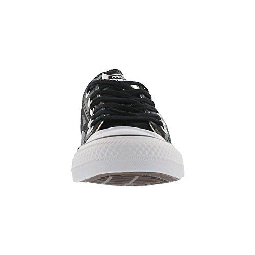 Converse Shoes - Zapatos de cordones de Lona para mujer Sharkskin Black