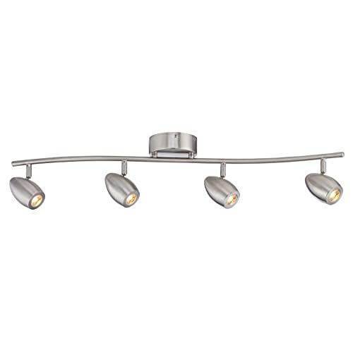 track lighting kits home theater industrial. Designers Fountain EVT101727-35 Modern 3\u0027. Brushed Nickel LED Track Lighting Kit With 4 Led Lights 1910 Lumens Kits Home Theater Industrial
