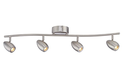 Fountain Lighting (Designers Fountain EVT101727-35 Modern 3'. Brushed Nickel LED Track Lighting Kit with 4 Led Track Lights 1910 Lumens)