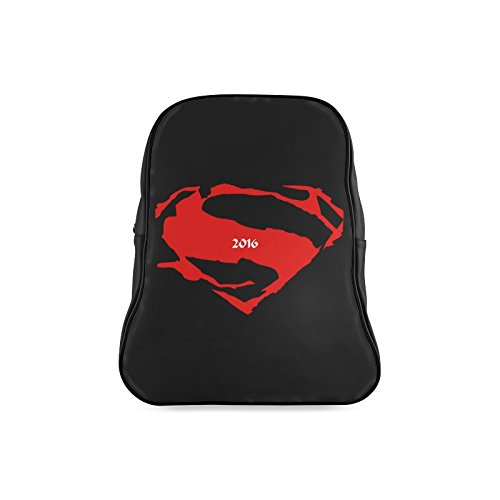 [Navarro Classic Superman Logo Children School High-grade PU Leather Backpack Bag Shoulder Bag] (Iron Fist Costumes For Kids)