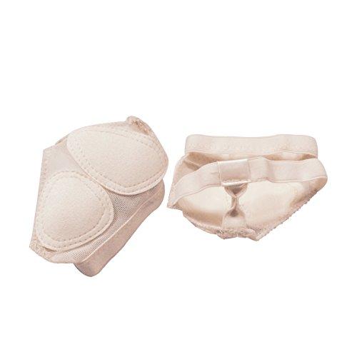 Tofern Vrouwen Mannen 2 Paar Voet Thong Teen Pad Half Enige Bescherming Dans Poot Schoenen Fitness Voor Lyrische Yoga Ballet Latin Buikdans Beige