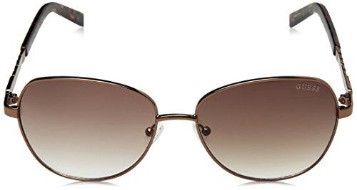Gafas redondo Guess Mujer chain Marron sol de trim wfcTWqn6c1