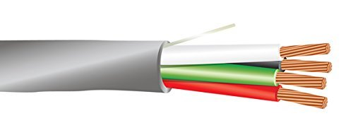 20 AWG 4/C Str CMR Riser Rated Non-Shielded Sound & Security Cable - 1000 Feet - EWCS Spec - Made in USA!