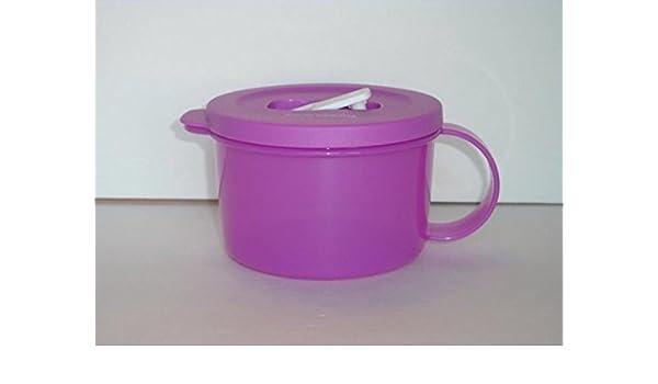 Tupperware Crystalwave microondas taza de sopa 16 Oz púrpura de la ...