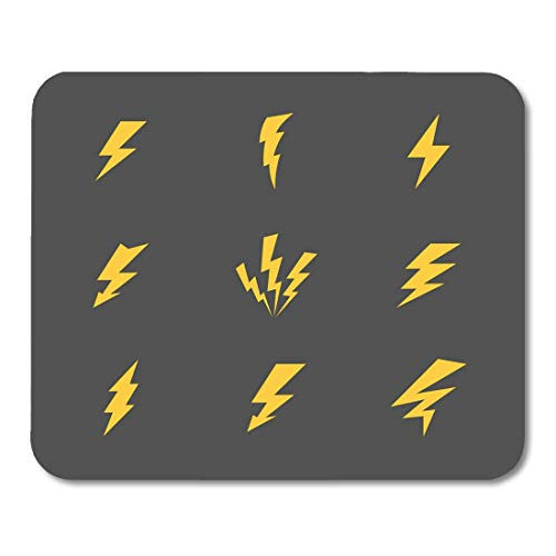 Top Fuel Thunder - Boszina Mouse Pads Fuel Orange Bolt Cartoon Gray Lightnings and Thunder Flat Design White Yellow Power Press Mouse Pad for notebooks,Desktop Computers mats 9.5