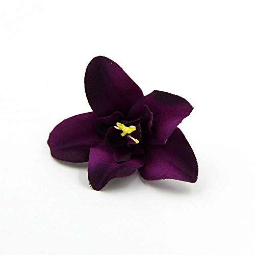 FLOWER 30pcs/lot Artificial Silk Orchid Heads for Wedding Decoration DIY Wreath Gift Scrapbooking Craft Supplies Fake (Purple)