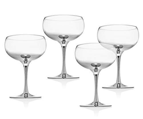 Godinger Cocktail Glasses, Balloon Champagne Bar Coupes – Set of 4