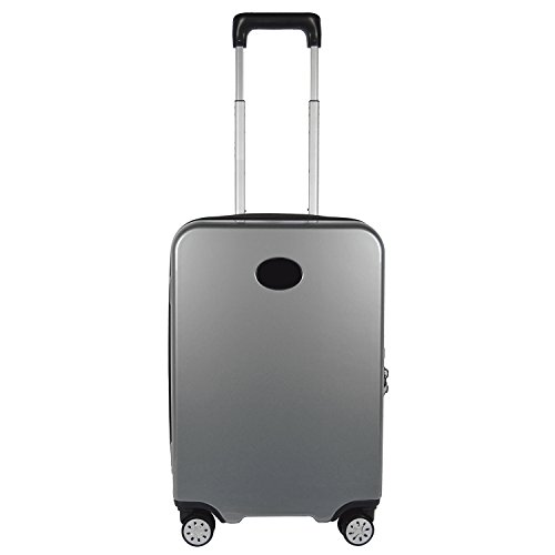 Denco Premium Hardside Carry-On Luggage Spinner, Gray from Denco