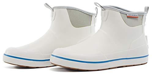 - Grundéns Men's Deck Boss Ankle Boot, White - 10 M US