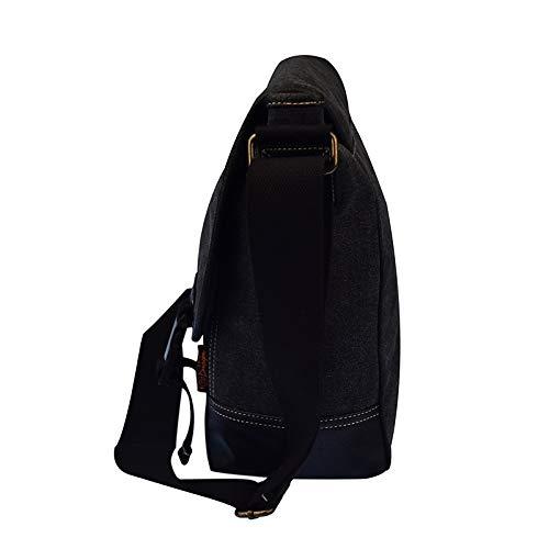 Zipper QZTG Canvas Capacité Dark Grande Bags Fourre À Bag main à Tout De Shoulder Main Men's Black sac Brown Sacs Sx8pSqf