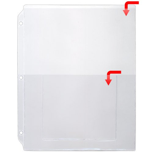 - StoreSMART - Plastic Sheet Protector for 3-Ring Binders- 8 1/2