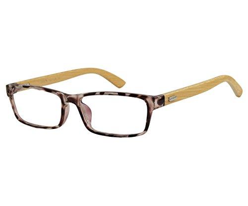 EyeBuyExpress Bifocal Men Women Glasses RX Reading Animal Print Bamboo Temples - Print Eyeglasses Animal Prescription