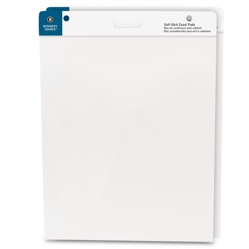 Self-Stick Easel Pads, 25''x30'', 30 Shts/Pad, 2/PK, White, Sold as 1 Carton