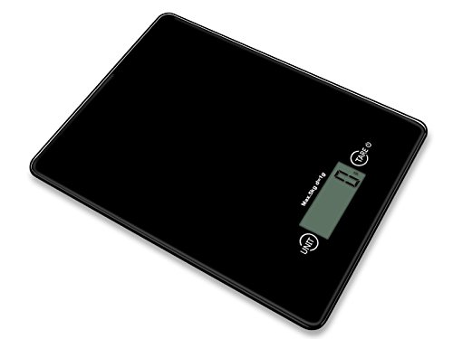INSEN Digital Kitchen Scale, Multifunction Food Scale, Tempered glass surface simple style design, Black