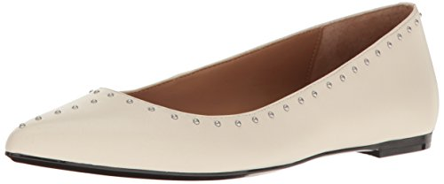 Calvin Klein Women's Genie Pointed Toe Flat, Soft White, 8 M US by Calvin Klein (Image #1)