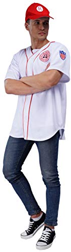 Men's League of Their Own Coach Jimmy Baseball Jersey Costume with Hat for Adults - http://coolthings.us