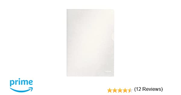 Esselte 54830/54832 - Carpetas de plástico (A4, 100 unidades), transparente: Amazon.es: Oficina y papelería