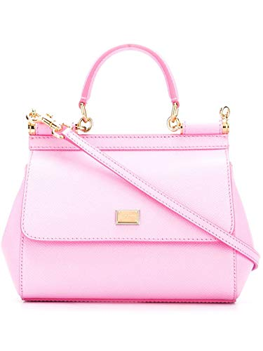 (Dolce E Gabbana Women's Bb6003a10018h411 Pink Leather Handbag)